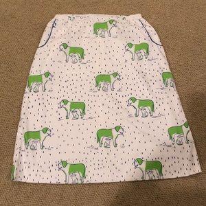 Vintage bested gentress fig/cat skirt sz 16